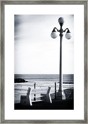 Looking To The Sea Framed Print by John Rizzuto