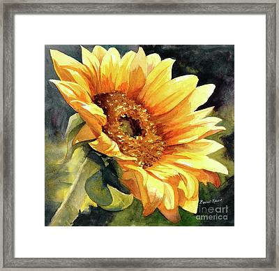Looking To The Sun Framed Print by Bonnie Rinier