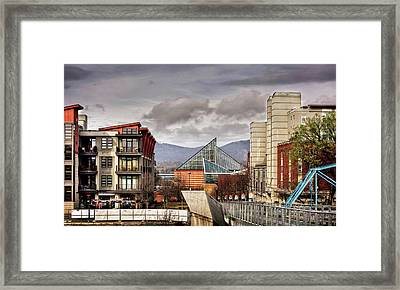 Looking Toward The Tennessee Aquarium Framed Print by Greg Mimbs