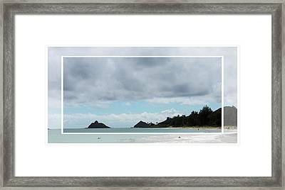 Looking Towards Lanikai Beach Framed Print