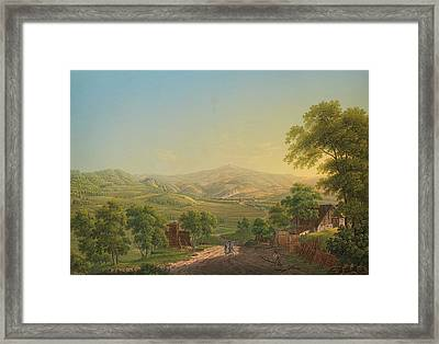 looking towards the Brocken Framed Print