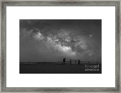 Looking Towards The Sky Bw Framed Print by Michael Ver Sprill