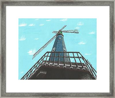 Looking Up At A Windmill Framed Print