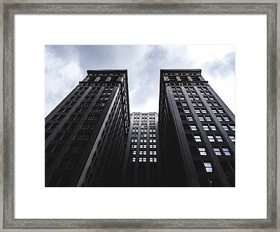 Looking Up At Building In St. Louis Framed Print by Dylan Murphy