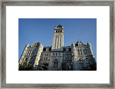 Looking Up At The Trump Hotel Framed Print by Greg Mimbs