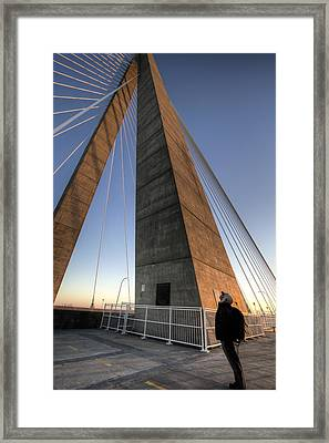 Looking Up Cooper River Bridge Framed Print by Dustin K Ryan