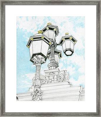 Looking Up In London Framed Print by Tammie Painter