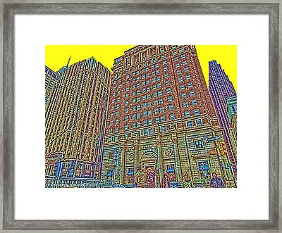 Looking Up In Love Park Framed Print