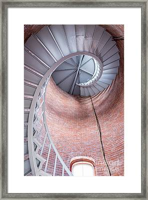 Looking Up, Portsmouth Harbor Lighthouse Framed Print by Dawna Moore Photography