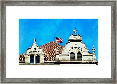 Framed Print featuring the photograph Looking Up - Scranton Proud by Janine Riley