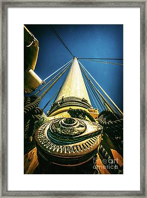 Looking Up The Mast Framed Print by Nick Zelinsky