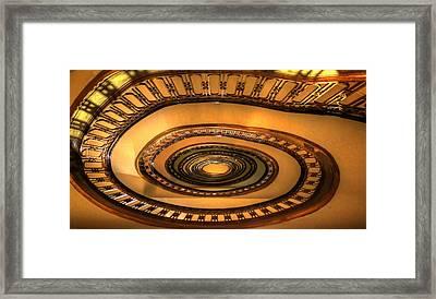 Looking Up The Ponce Stairway Atlanta Georgia Framed Print