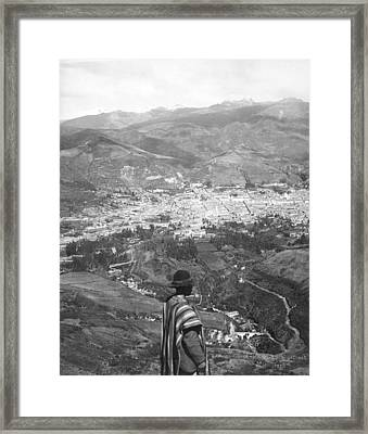 Looking West Over Quito Framed Print by Underwood Archives