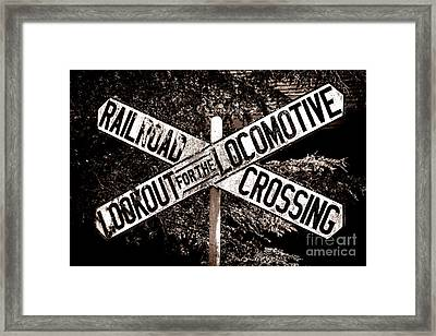 Lookout For The Locomotive Framed Print by Olivier Le Queinec