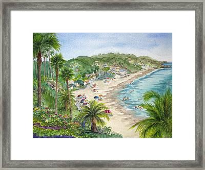 Lookout Over Laguna Beach Framed Print by Bonnie Sue Schwartz