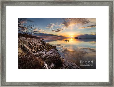 Lookout Point Reflections Framed Print by Benjamin Williamson