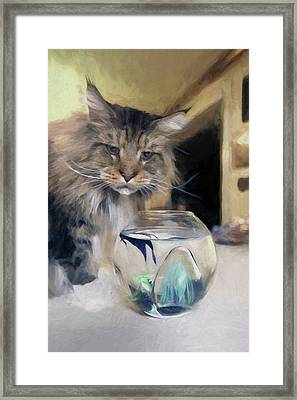 Framed Print featuring the digital art Look's Like Dinner's Just About Ready. by James Steele