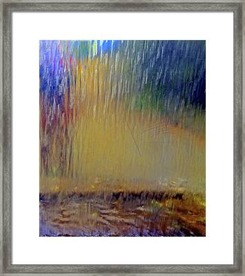 Looks Like Rain Framed Print