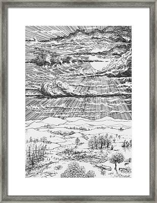 Looming Snowstorm Framed Print by Charles Cater