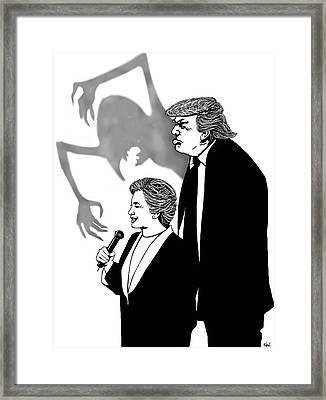 Looming Trump Framed Print