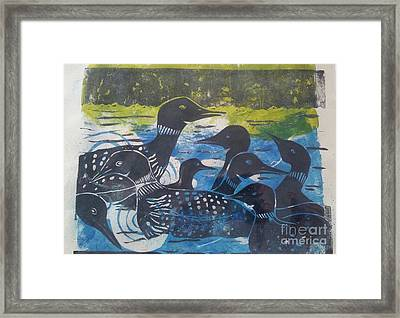 Loon, I See Framed Print