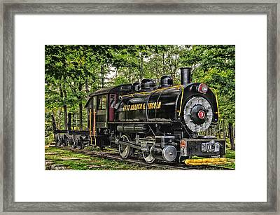 Loon Mountain Logging Locomotive Framed Print by Mike Martin