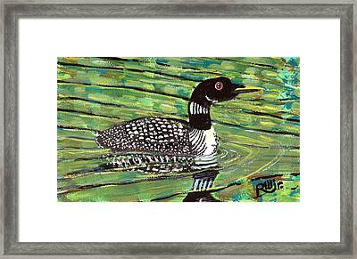 Loon Framed Print by Robert Wolverton Jr