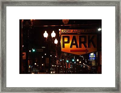 Loop Auto Park Framed Print