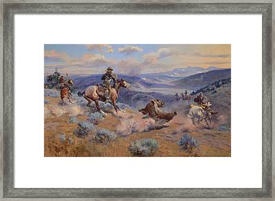 Loops And Swift Horses Are Surer Than Lead Framed Print by Mountain Dreams