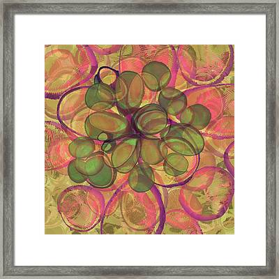 Loopy Dots #20 Framed Print