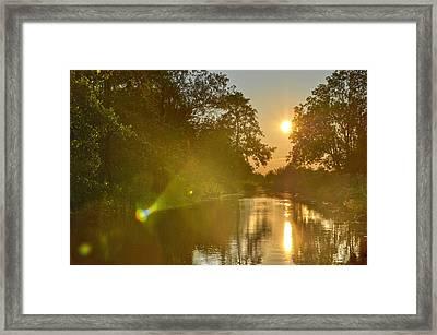 Loosdrecht Lensflare Framed Print