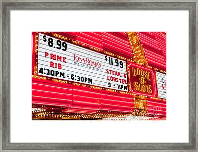 Loose Slots Framed Print by Andy Smy