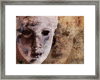 Framed Print featuring the digital art Loosing The Real You Behind The Mask by Gun Legler