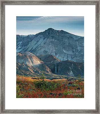 Loowit Falls Mount St Helens Framed Print