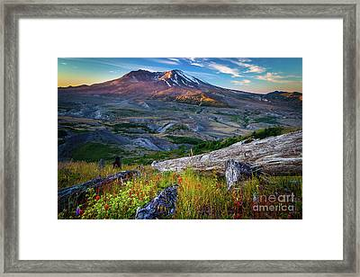 Loowit Framed Print by Inge Johnsson