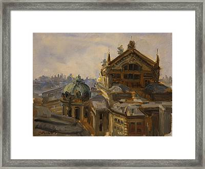 L'opera, Paris, France Framed Print by Nora Sallows