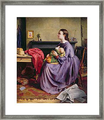 Lord - Thy Will Be Done Framed Print by Philip Hermogenes Calderon