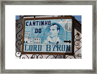 Lord Byon Ate Here Framed Print by Carl Purcell