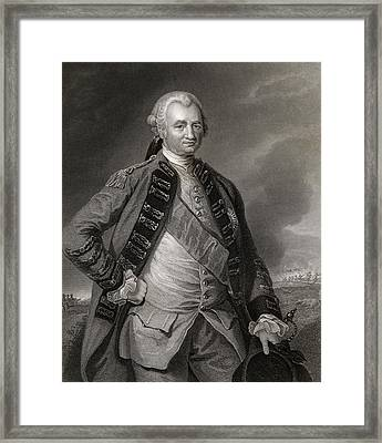 Lord Clive Engraving From A Painting By Framed Print