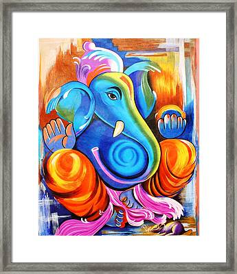 Lord Ganesh  Framed Print by Rupa Prakash