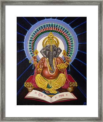 Lord Ganesha Framed Print by Adrienne Martino