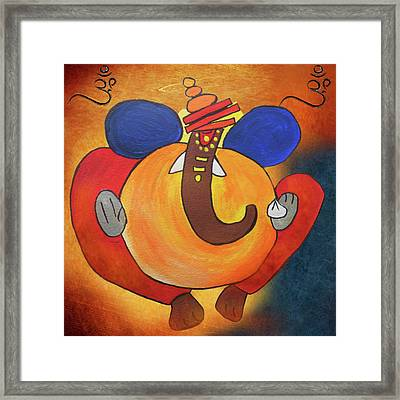 Lord Ganesha Art Framed Print