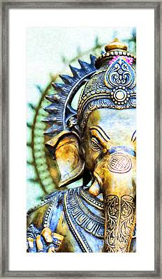 Lord Ganesha Framed Print by Tim Gainey
