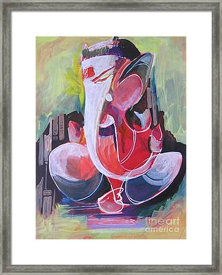 Lord Ganesha- Unique Abstraction Framed Print by Chintaman Rudra