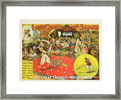 Lord George Sanger Victorian Circus Framed Print
