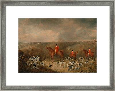 Lord Glamis And His Staghounds Framed Print