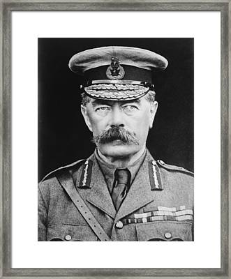 Lord Herbert Kitchener Framed Print by War Is Hell Store