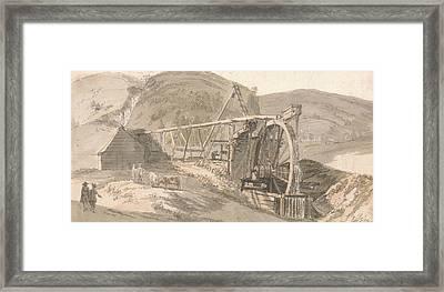 Lord Hopetoun's Lead Mines Framed Print by Paul Sandby
