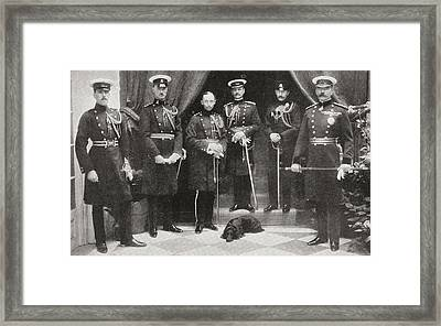 Lord Kitchener And His Personal Staff Framed Print by Vintage Design Pics