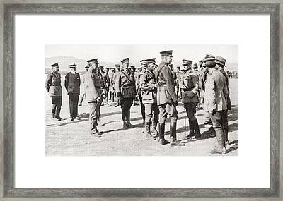 Lord Kitchener S Visit To Gallipoli Framed Print by Vintage Design Pics